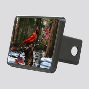 cardinal bird art Rectangular Hitch Cover