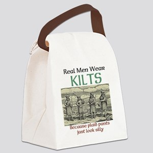 Real Men Wear Kilts Canvas Lunch Bag