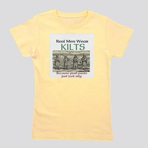 Real Men Wear Kilts Girl's Tee