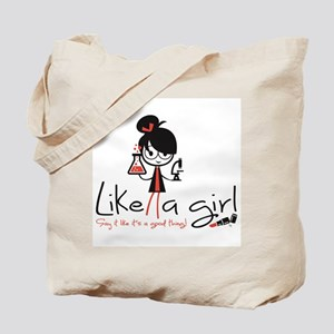 Science Like a girl! Tote Bag