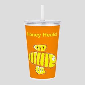 Honey Heals Hooray Acrylic Double-Wall Tumbler