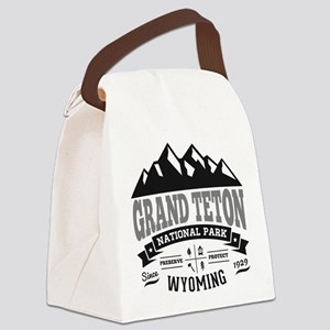 Grand Teton Vintage Canvas Lunch Bag