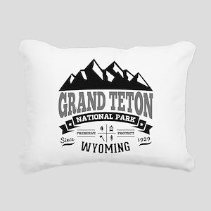 Grand Teton Vintage Rectangular Canvas Pillow
