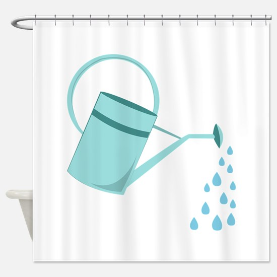 Watering Can Shower Curtain