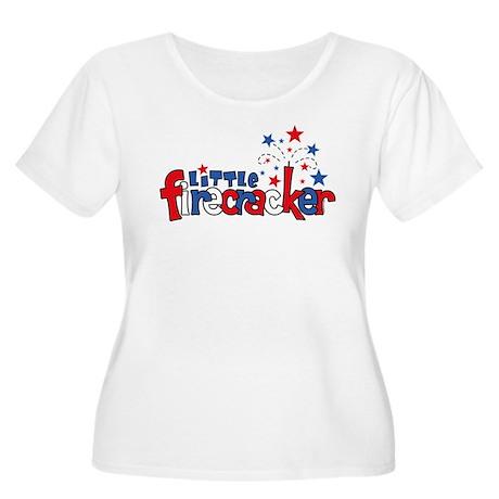 Little Firecracker Women's Plus Size Scoop Neck T-