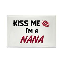 Kiss Me, I'm a NANA Rectangle Magnet (10 pack)