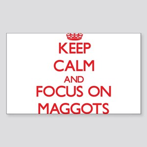 Keep Calm and focus on Maggots Sticker