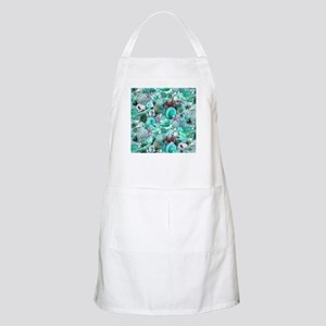 Green Seashells And starfish Apron