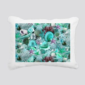 Green Seashells And starfish Rectangular Canvas Pi