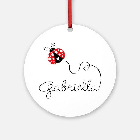 Ladybug Gabriella Ornament (round)