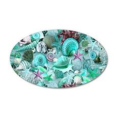 Green Seashells And starfish Wall Decal