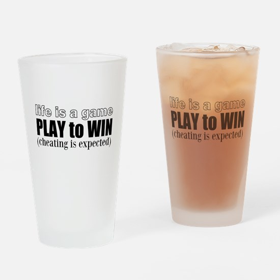 Play To Win Drinking Glass