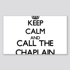 Keep calm and call the Chaplain Sticker