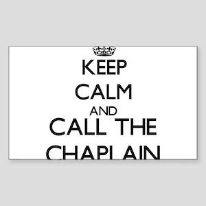 Keep calm and call the Chaplain Sticker
