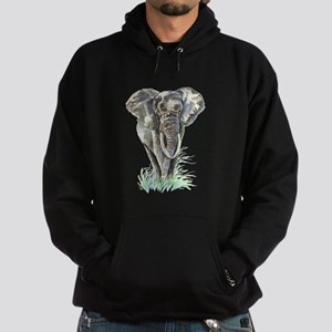 Watercolor Elephant Animal art Hoodie
