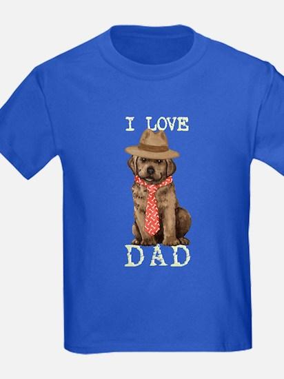 Chocolate Lab Dad T