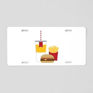 Fast Food Aluminum License Plate