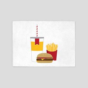 Fast Food 5'x7'Area Rug