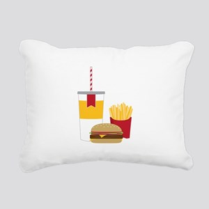 Fast Food Rectangular Canvas Pillow