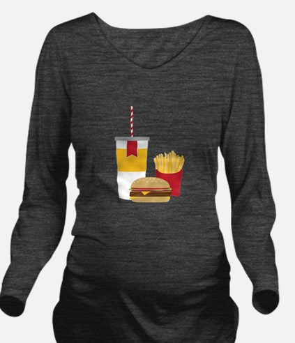 Fast Food Long Sleeve Maternity T-Shirt