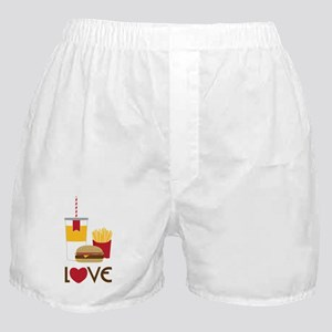 Love Fast Food Boxer Shorts