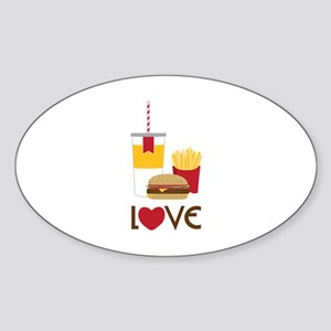 Love Fast Food Sticker