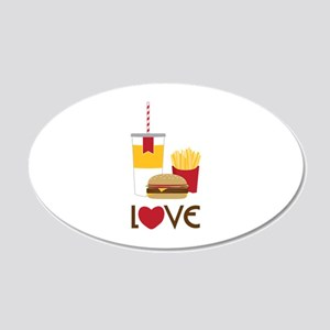 Love Fast Food Wall Decal