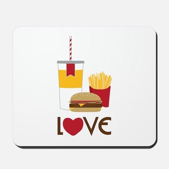 Love Fast Food Mousepad