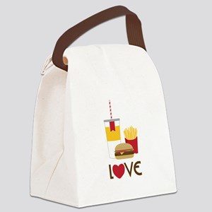 Love Fast Food Canvas Lunch Bag