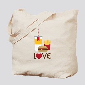 Love Fast Food Tote Bag
