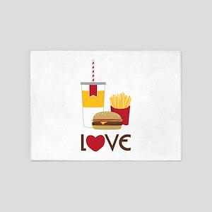 Love Fast Food 5'x7'Area Rug