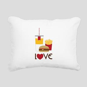 Love Fast Food Rectangular Canvas Pillow