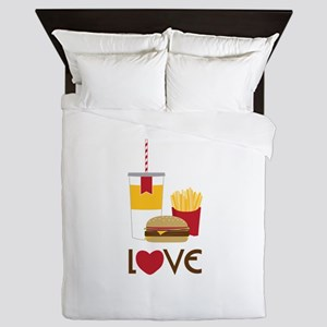 Love Fast Food Queen Duvet