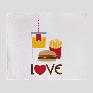 Love Fast Food Throw Blanket