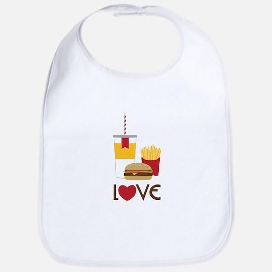 Love Fast Food Bib