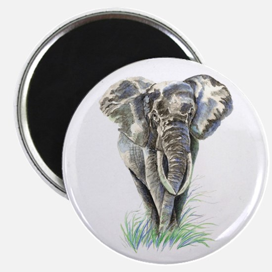 Watercolor Elephant Animal art Magnets