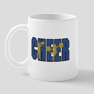 Cheer Blue and Gold Cheerleading Mug