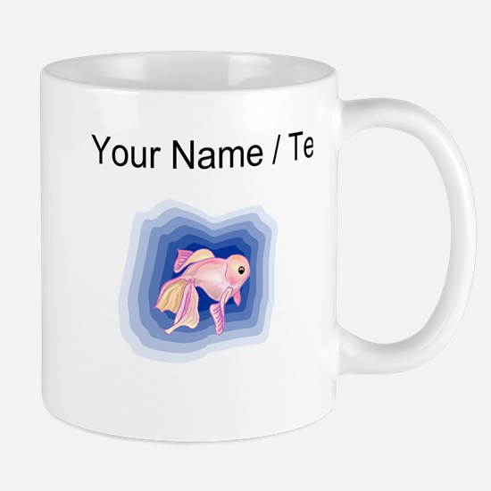 Custom Pink Betta Fish Mugs
