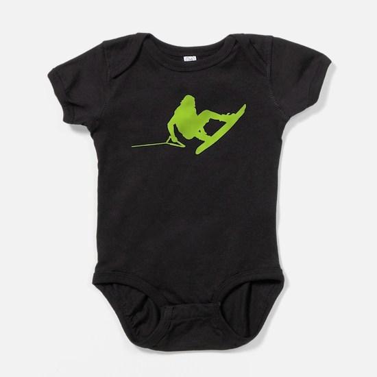Green Wakeboard 360 BroStock Baby Bodysuit