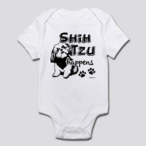 shih tzu happens Infant Bodysuit