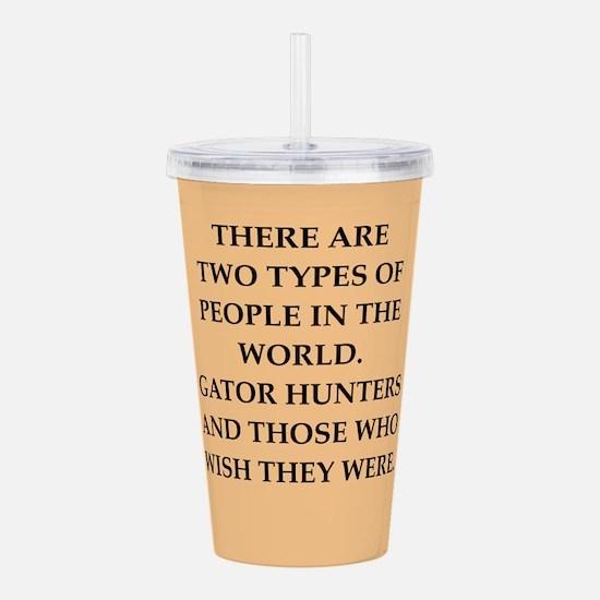 gator hunter Acrylic Double-wall Tumbler