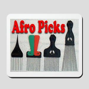 Afro Picks Mousepad