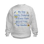 Agility Champion JAMD Kids Sweatshirt