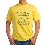 Agility Champion JAMD Yellow T-Shirt