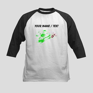 Custom Frog Eating Fly Baseball Jersey