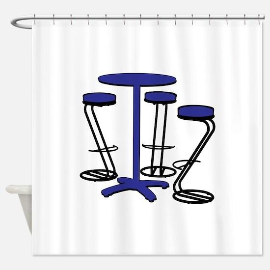 Bistro Set Shower Curtain