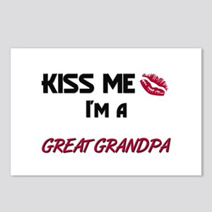 Kiss Me, I'm a GREAT GRANDPA Postcards (Package of