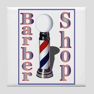 Barber Shop Tile Coaster