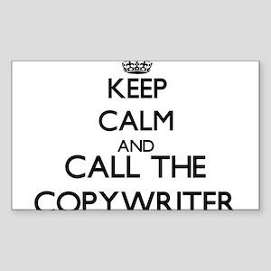 Keep calm and call the Copywriter Sticker