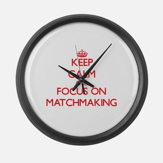 Unique Mats Large Wall Clock